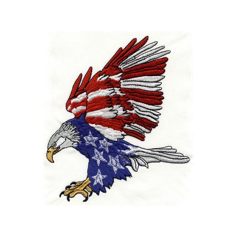 Red White Blue Eagle Embroidery4u