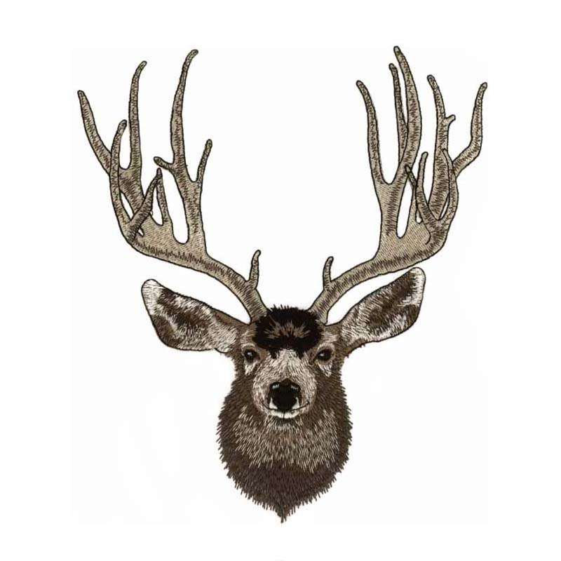 Buck embroidery design jacket back size u
